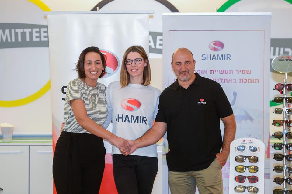 חנה קנייזבה מיננקו (מכבי חיפה) חתמה על הסכם חסות עם שמיר תעשיות אופטיקה בע