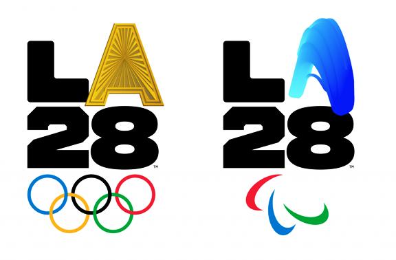 לוגואים עם א מתחלף לוס אנגלס 2028
