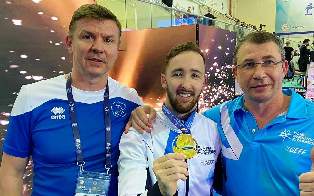 ארטיום דולגופיאט ומאמניו - אלוף אירופה 2020