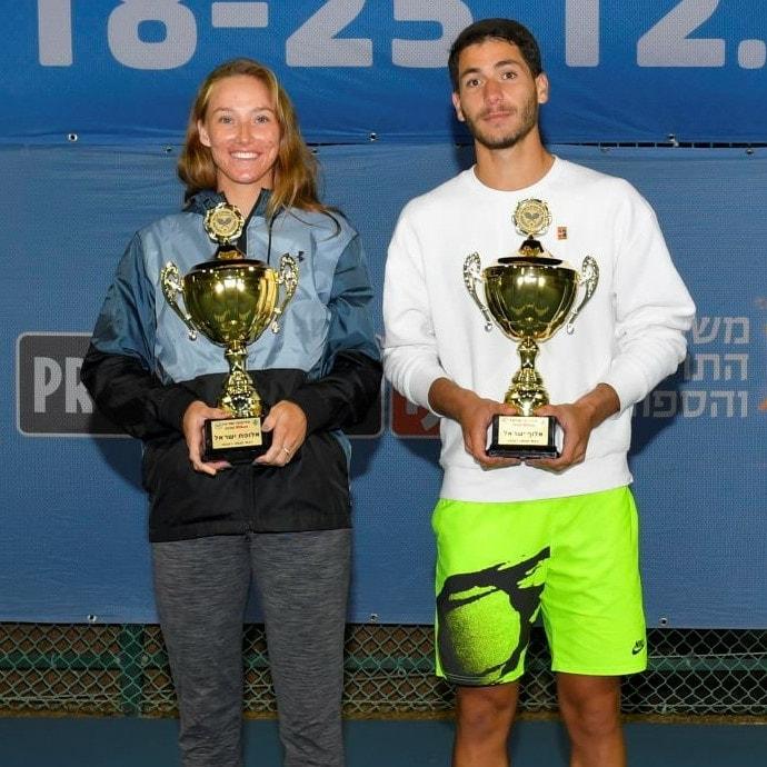 לינה גלושקו וישי עוליאל - אלופי ישראל בטניס 2020
